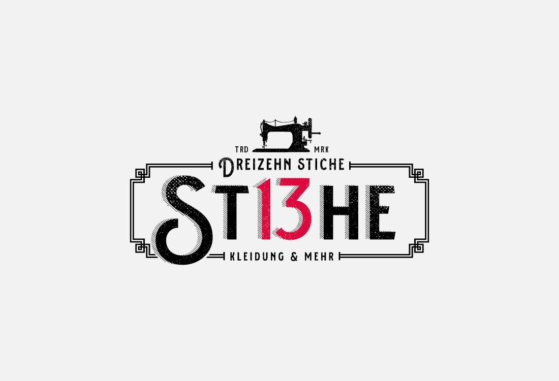 Ein schön gestaltetes Logo in Schwarz und Rot