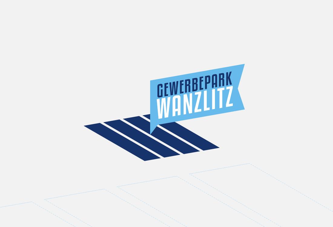 Ein schön gestaltetes Logo in Blautönen