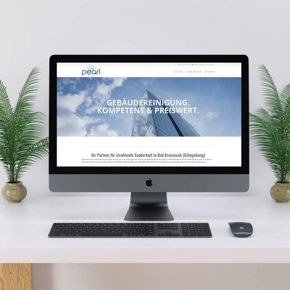 Ein Screenshot der Website von pear Gebäudereinigung